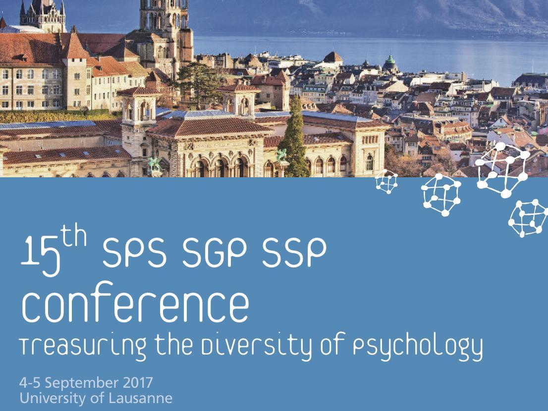 15th SPS/SGP/SSP Conference - Agenda
