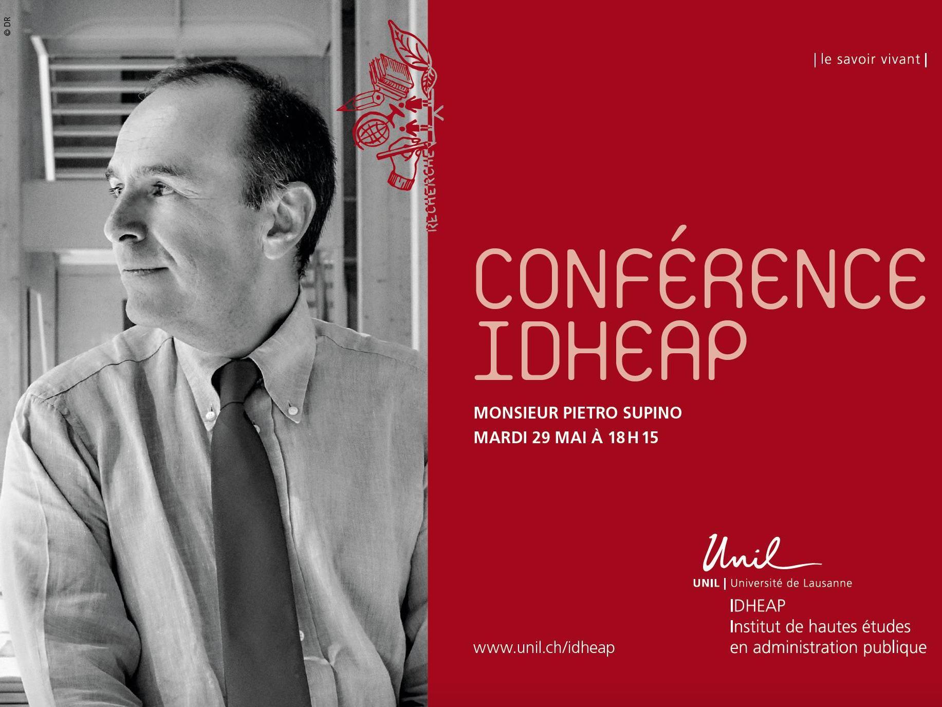 Conférence IDHEAP│Monsieur Pietro Supino