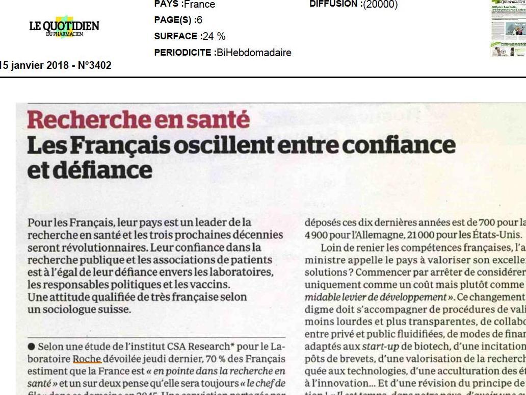 Les Français oscillent entre confiance et défiance