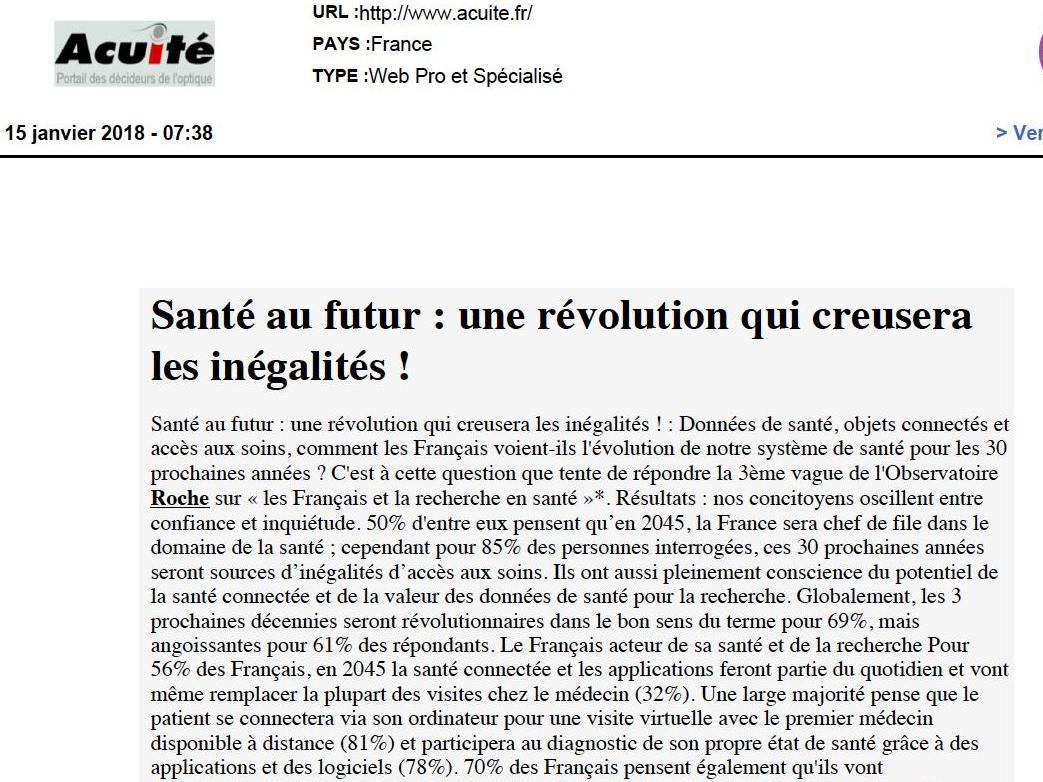 Santé au futur : une révolution qui creusera les inégalités !