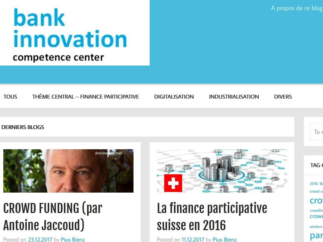 Le centre de compétences sur les nouvelles technologies financières lance son blog