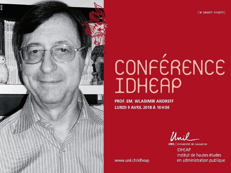 Conférence IDHEAP│Monsieur Wladimir Andreff