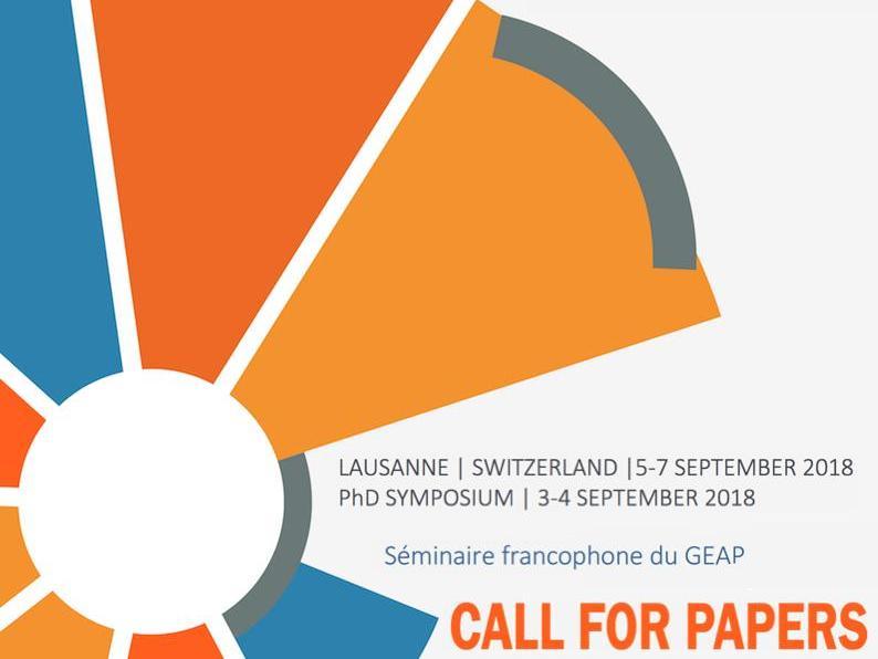 Séminaire francophone│Conférence annuelle 2018 du GEAP