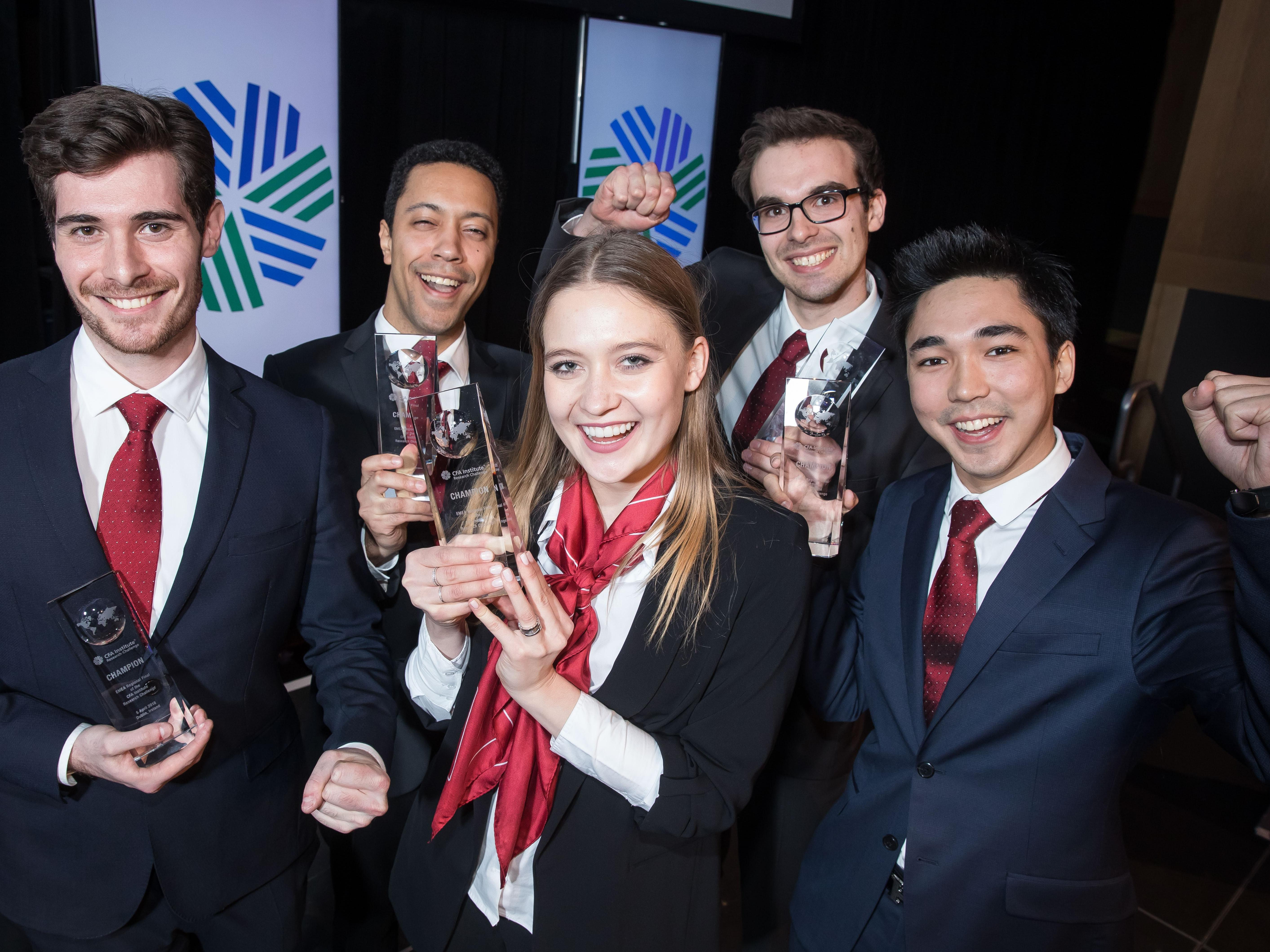 HEC Lausanne team wins the EMEA regional final of the Swiss CFA Institute Research Challenge