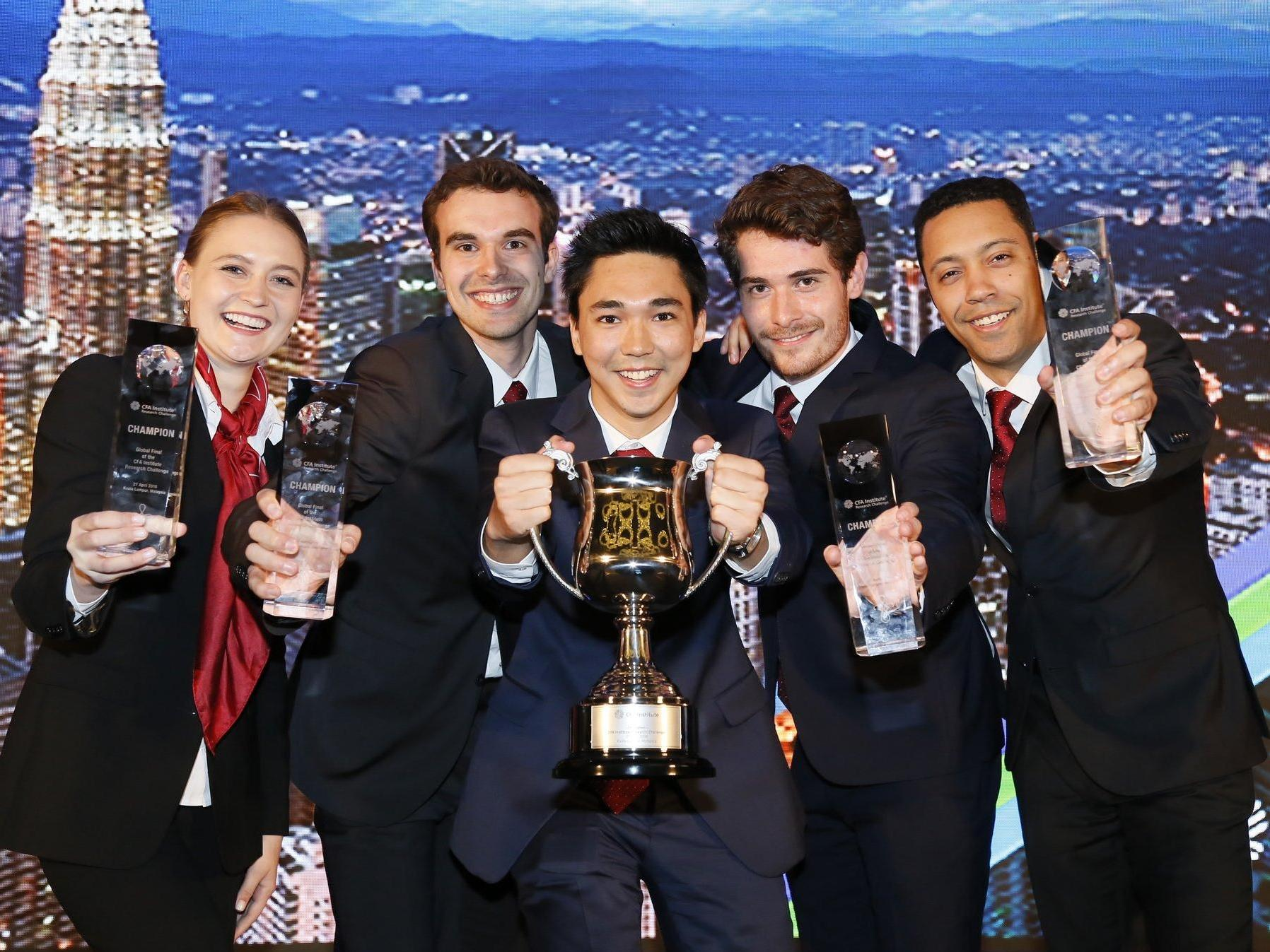 HEC Lausanne team wins the world final of the CFA Institute Research Challenge