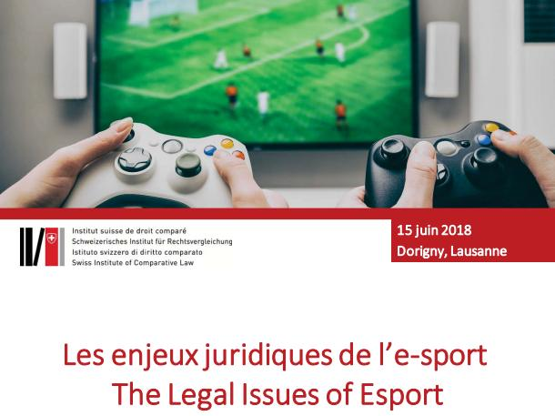 Les enjeux juridiques de l'e-sport