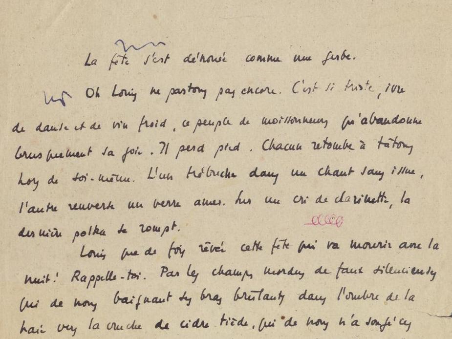Manuscrits de Gustave Roud recherchés