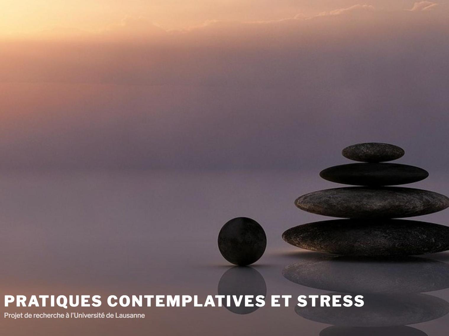 Pratiques contemplatives et stress