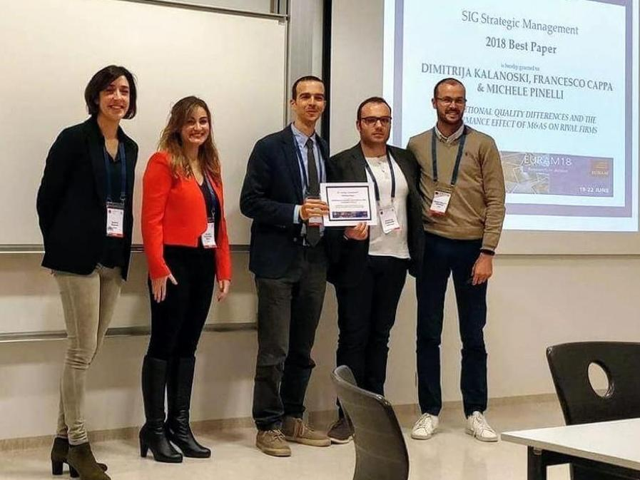 "Dimitrija Kalanoski received the ""Best paper award"" at the European Academy of Management – EURAM 2018"