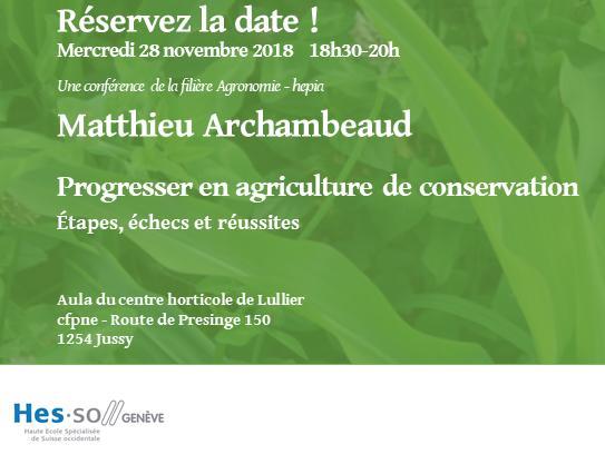 Matthieu Archambeaud - Progresser en agriculture de conservation