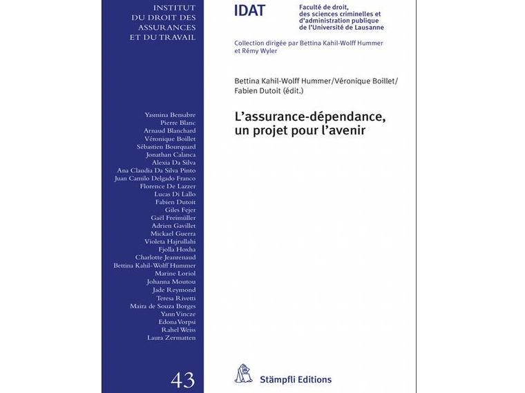 Publication : L'assurance-dépendance, un projet pour l'avenir