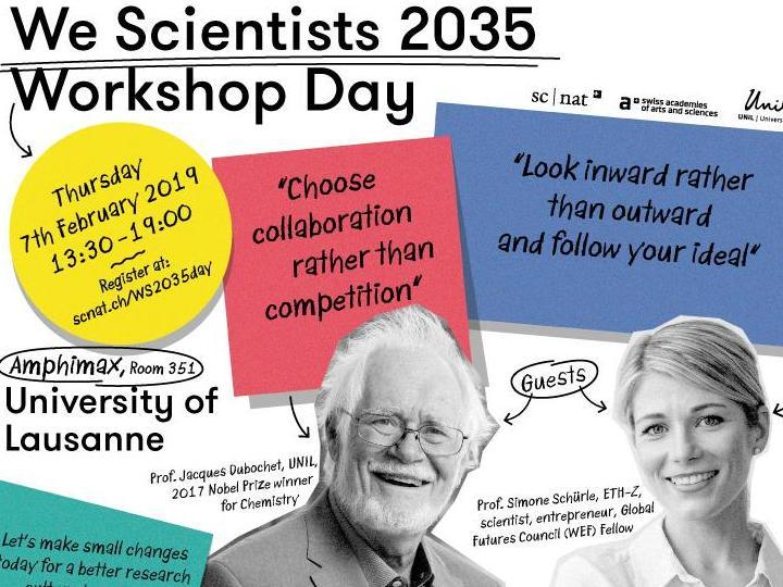 We Scientists 2035 Workshop Day @ UNIL – avec Jacques Dubochet: inscrivez-vous!