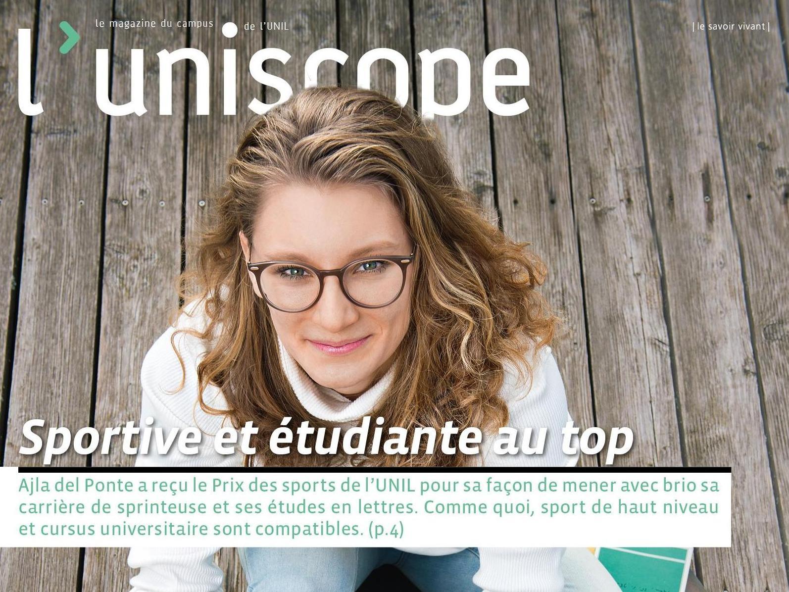 Le Prof. Antonakis et Jacques de Watteville dans le dernier numéro de L'uniscope!