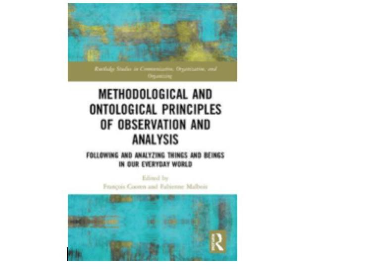 "Publication de l'ouvrage ""Methodological and Ontological Principles of Observation and Analysis"""