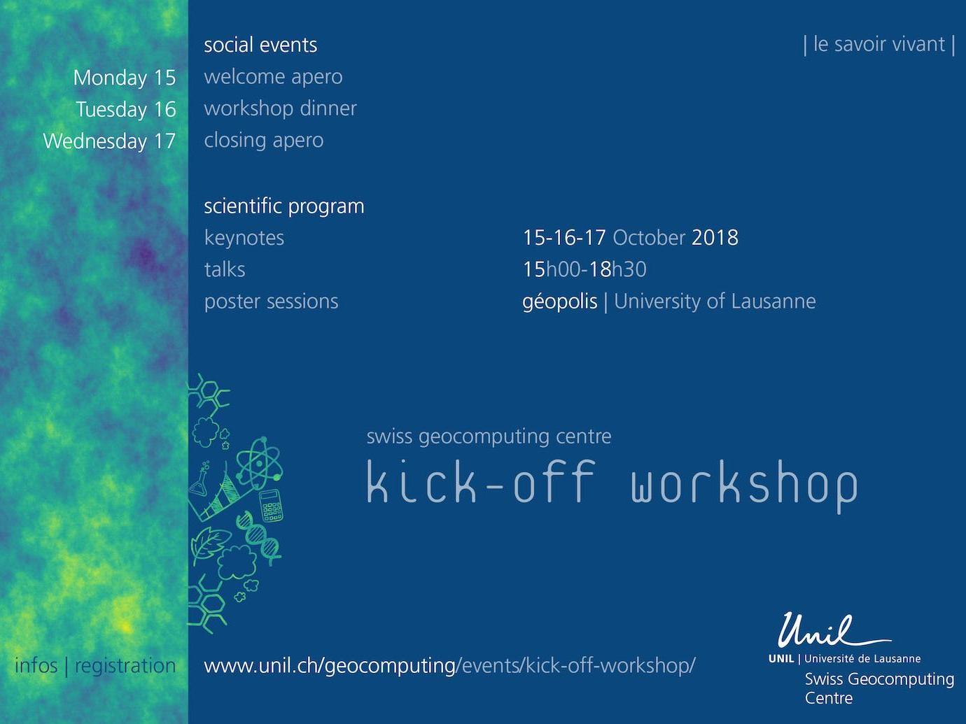 Swiss Geocomputing Centre kick-off workshop
