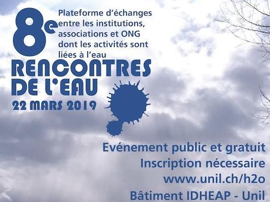 Rencontres de l'Eau 2019 : appel à contribution