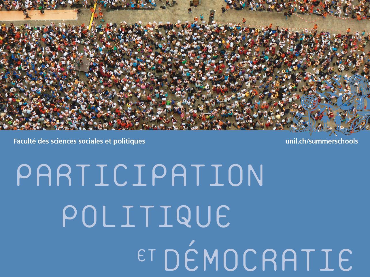 """École d'été """"Participation politique et démocratie"""""""