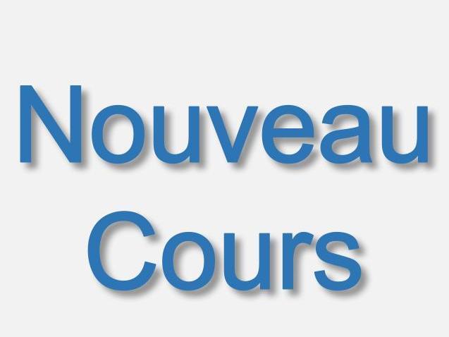 19.02.2019 - Nouveau cours – new course