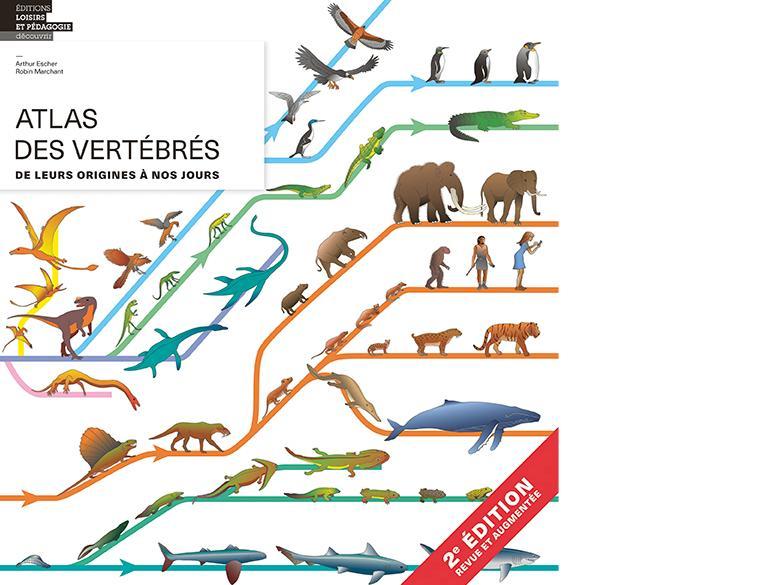 Parution de la 2e éditions de l'Atlas des vertébrés