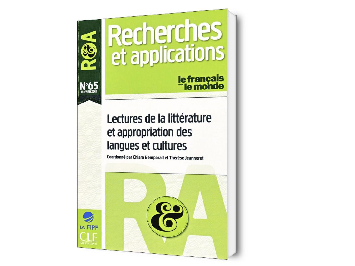 Lectures de la littérature et appropriation des langues et cultures