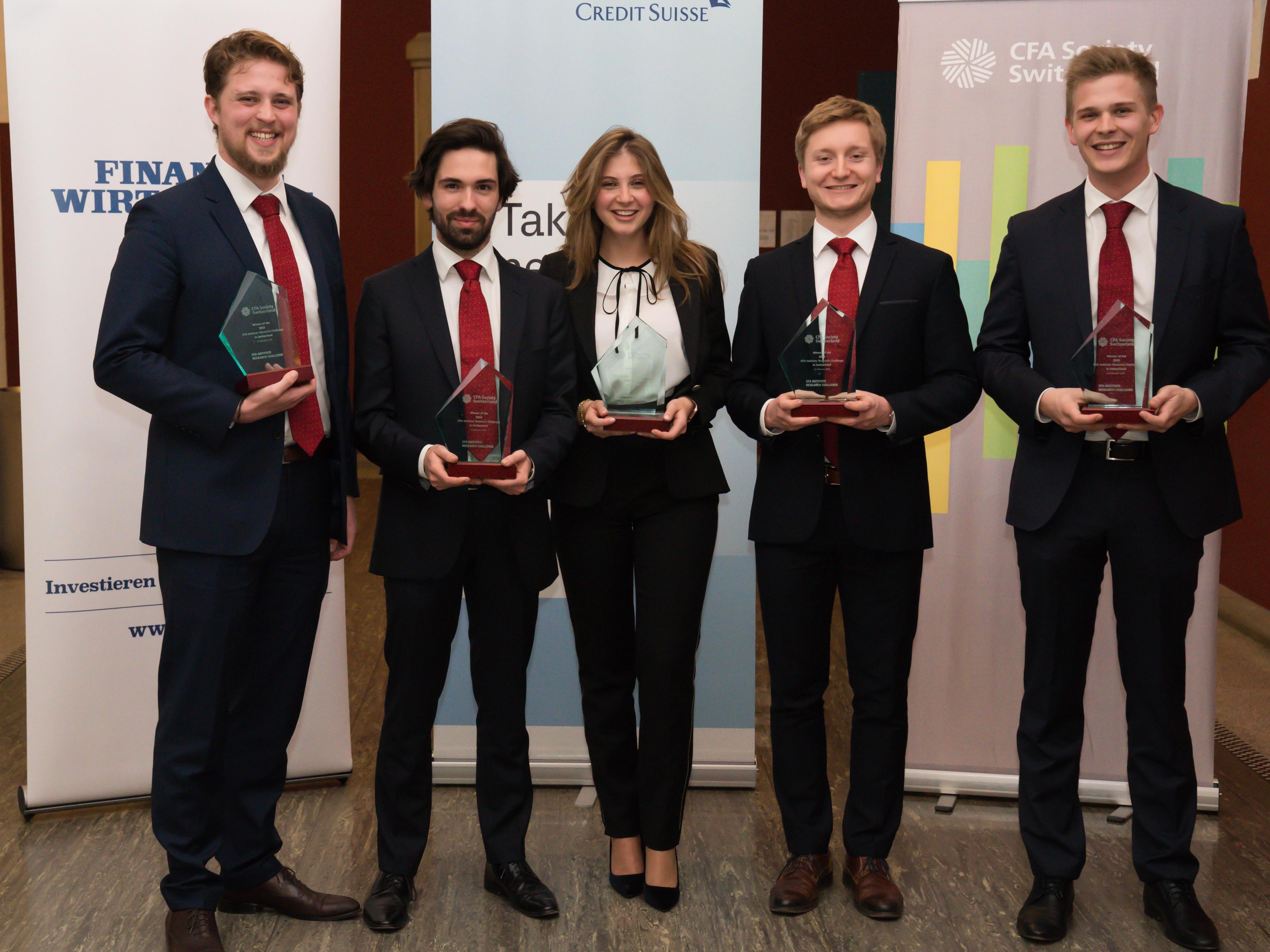 L'équipe de HEC Lausanne remporte le Swiss CFA Institute Research Challenge pour la 6e fois!