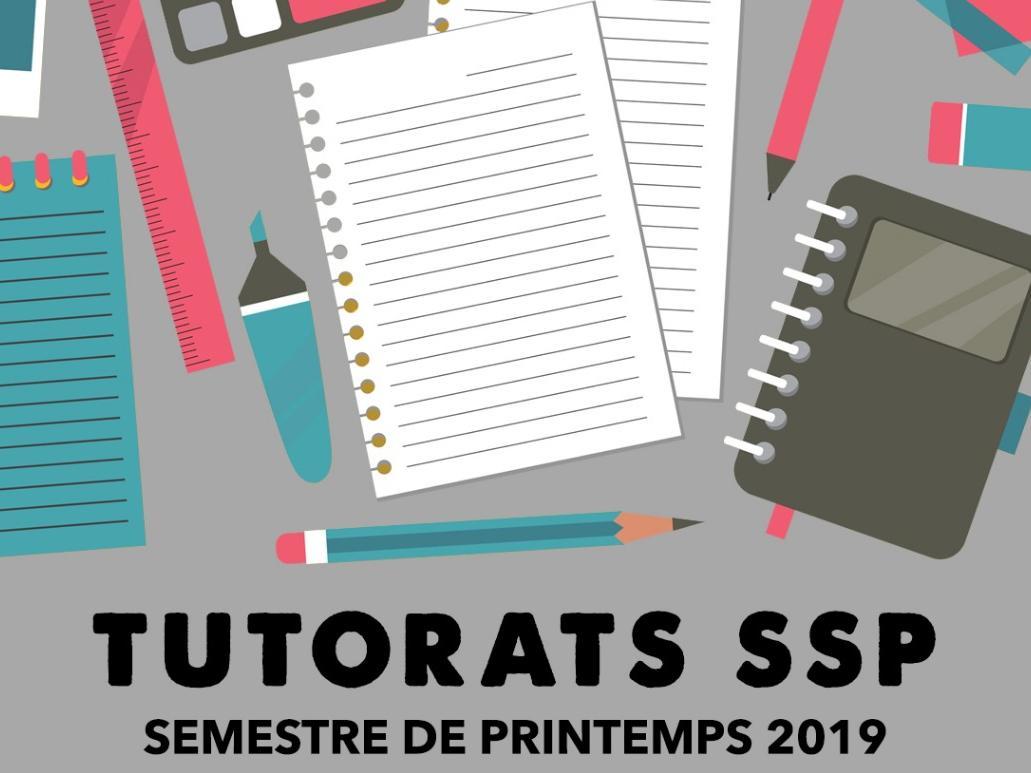 Tutorat des pairs - semestre de printemps 2019