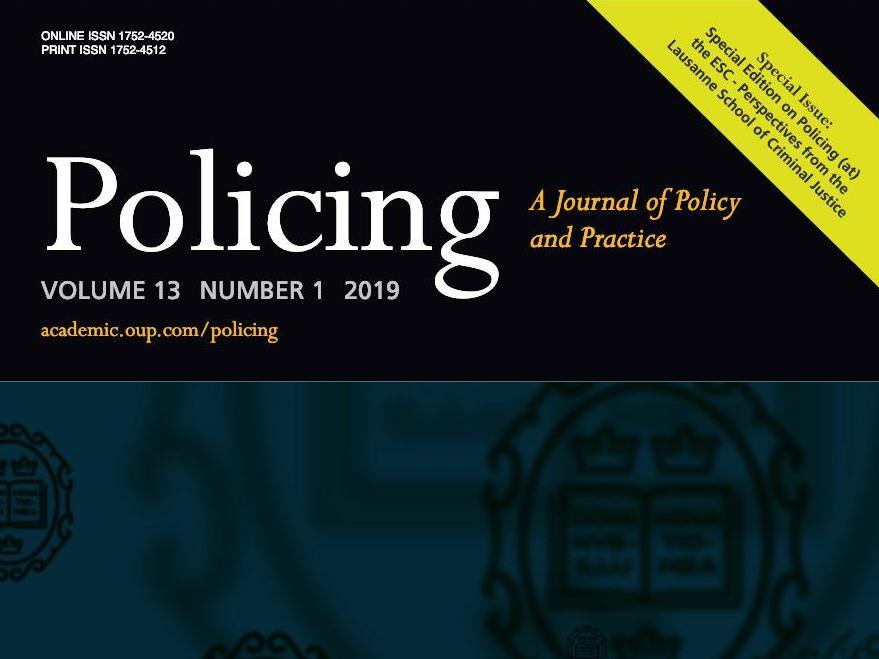 """Edition spéciale du journal """"Policing"""" sur l'Ecole des sciences criminelles"""