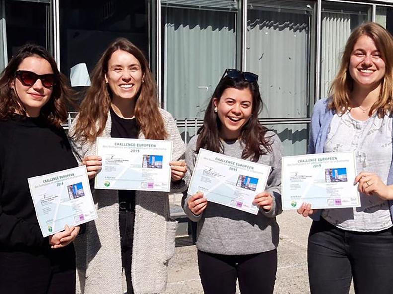 Des lauréates à l'UNIL : 4 étudiantes remportent le 2ème prix du Challenge interuniversitaire européen en projet urbain organisé par l'APERAU