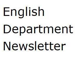 English Department Newsletter