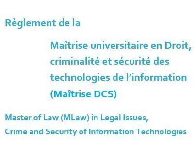 Révision du plan d'études et du règlement DCS