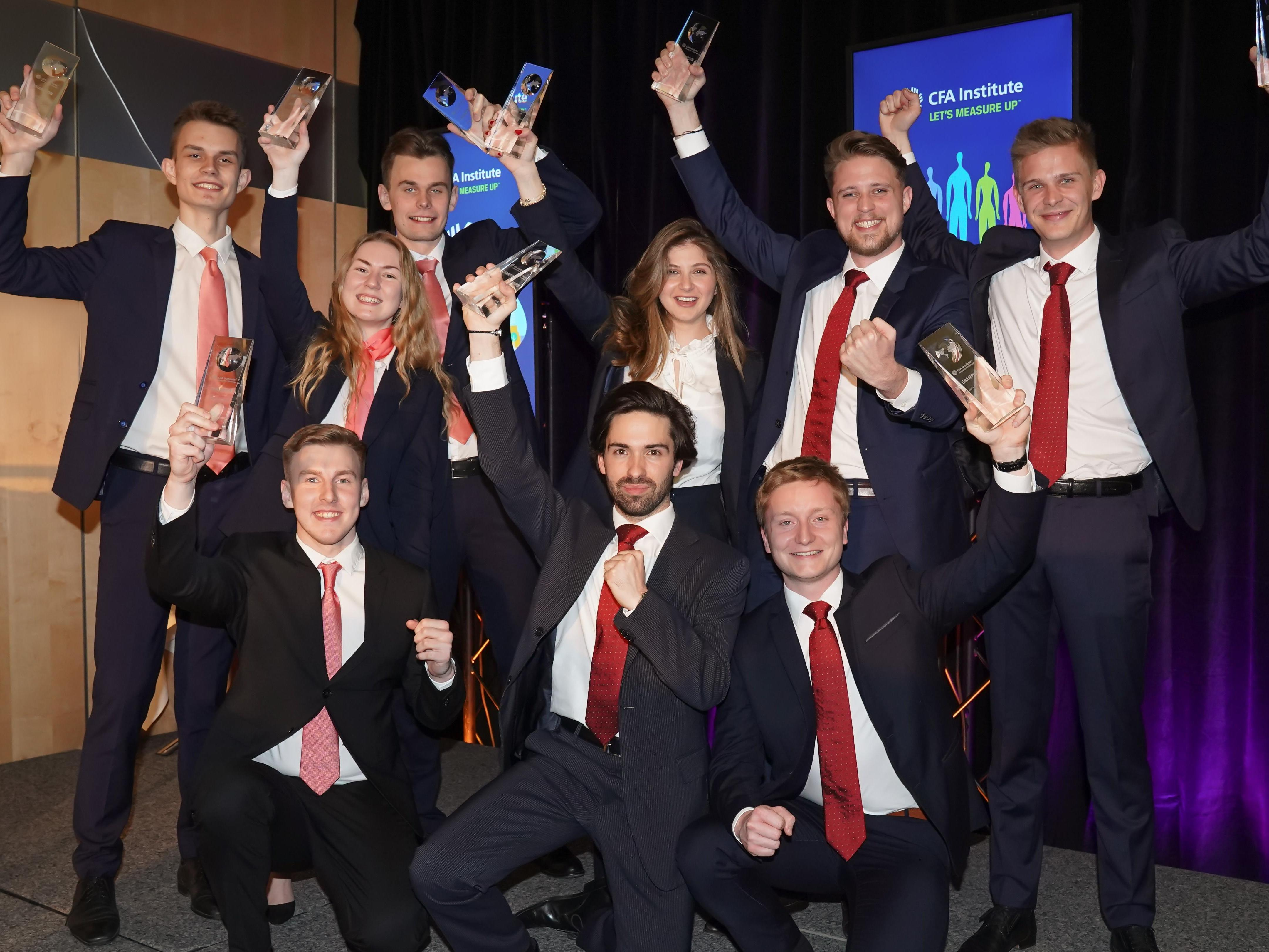The HEC Lausanne team wins the EMEA final of the CFA Institute Research Challenge