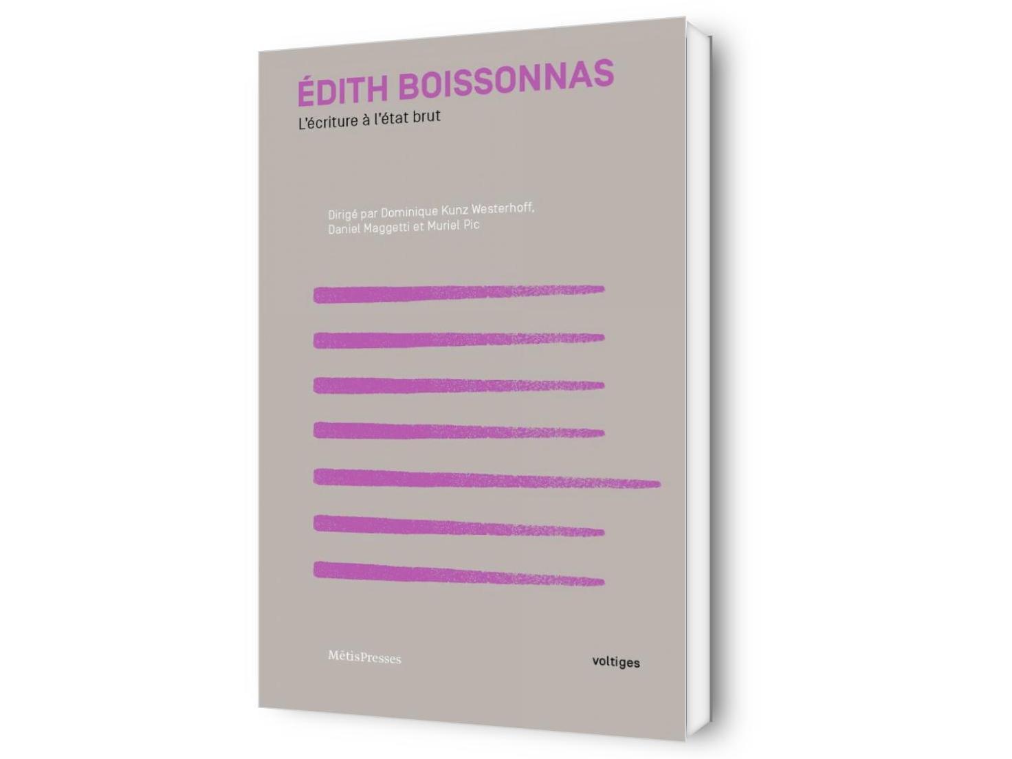 Édith Boissonnas. L'écriture à l'état brut