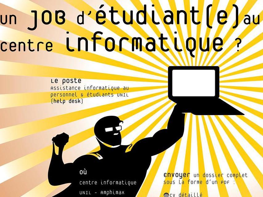 Offre d'emploi : jobs d'étudiant-e-s au Centre informatique