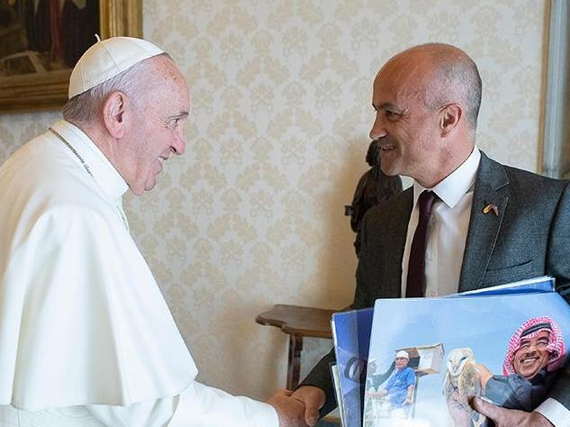 Alexandre Roulin rencontre le pape