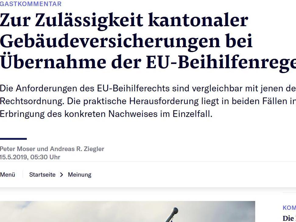 Etablissement cantonaux d'assurance des bâtiments et Union européenne