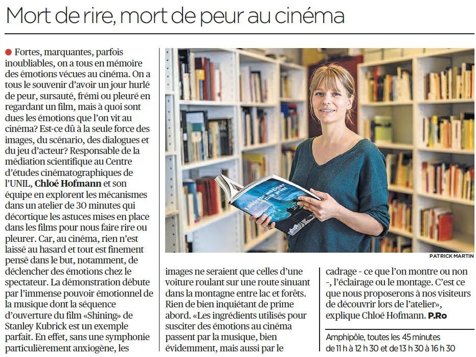 Du cinéma aux Mystères de l'UNIL !