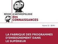 Parution du Vol 13 n° 1 de la Revue d'Anthropologie des Connaissances