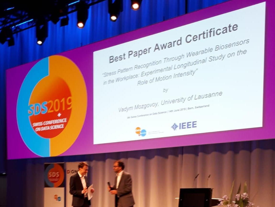 Best Paper Award  à la Conférence Swiss Data Science 2019