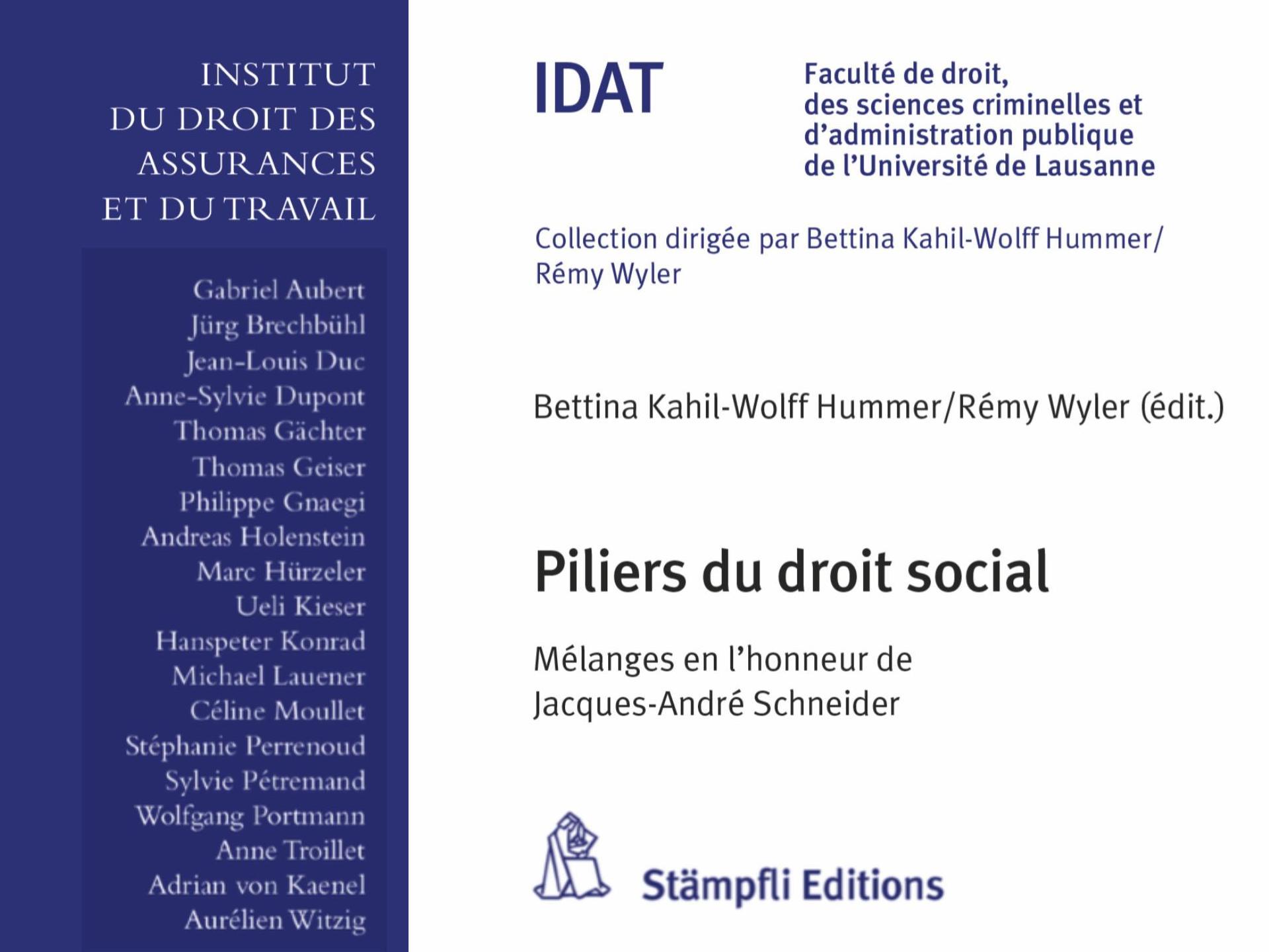 Publication | Piliers du droit social