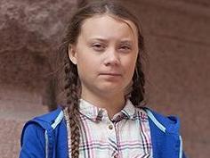 Greta Thunberg aux côtés du prix Nobel Jacques Dubochet à Lausanne