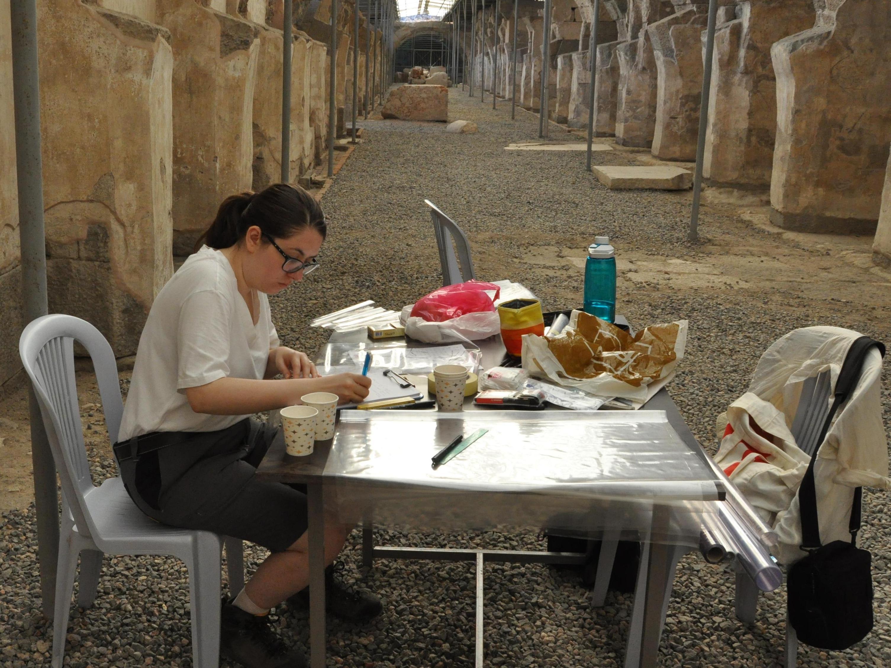 Des graffitis antiques sous la basilique