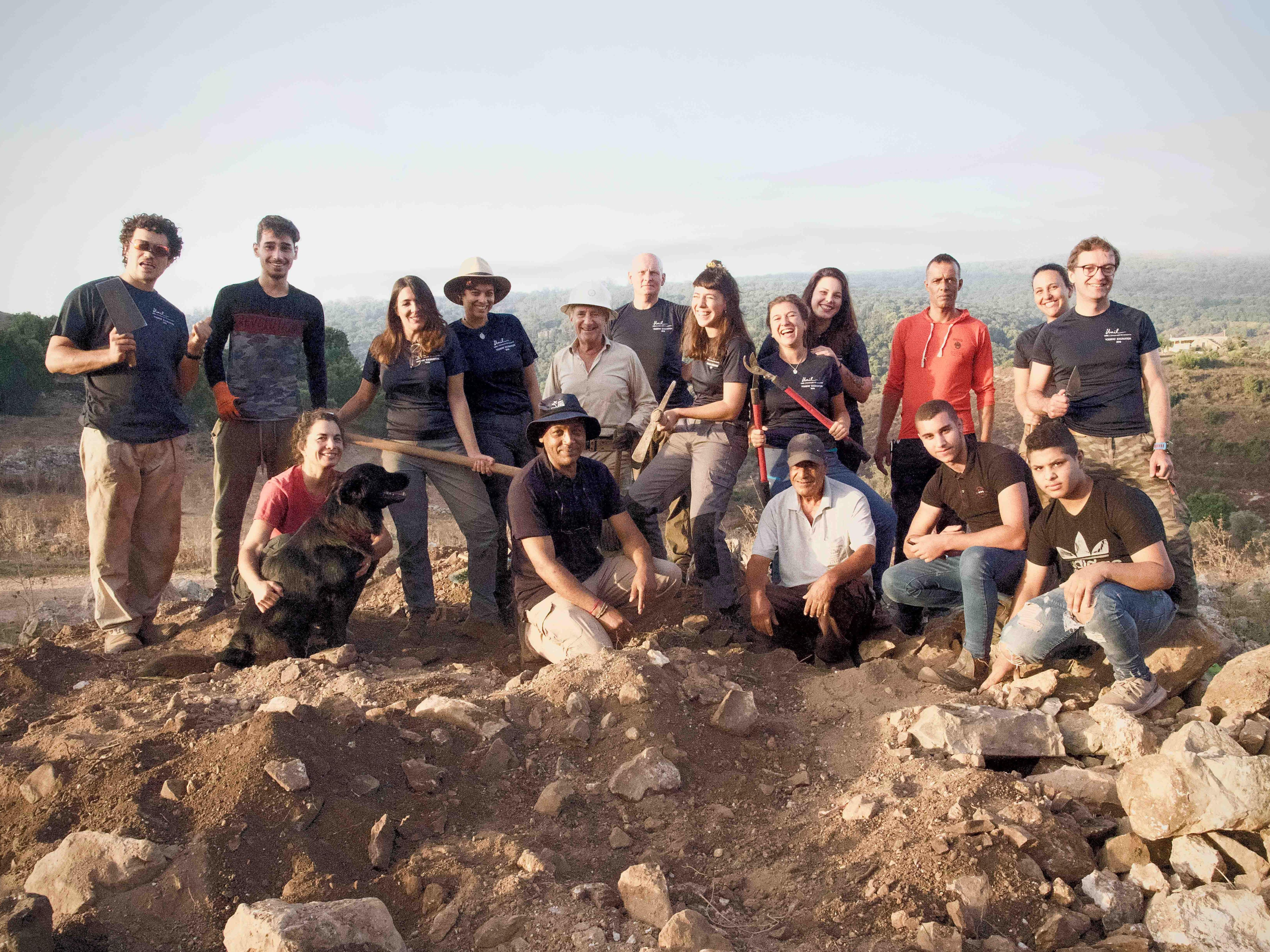 Terrain de fouilles archéologiques à Yodefat